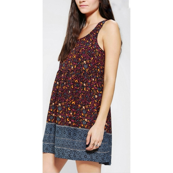 Ecoté Floral Printed Baby doll dress UO